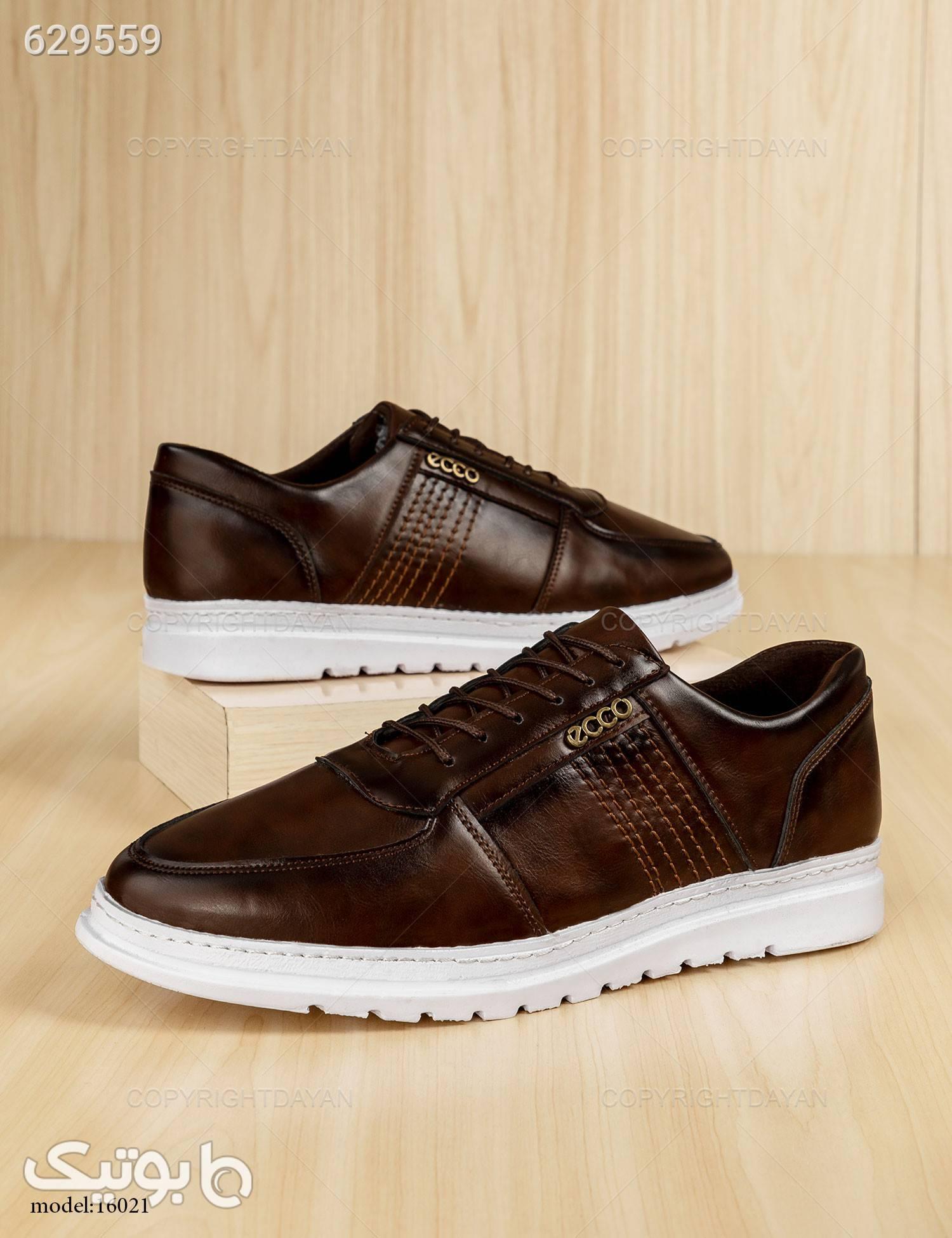 کفش روزمره مردانه  Ecco مدل 16021 قهوه ای كفش مردانه