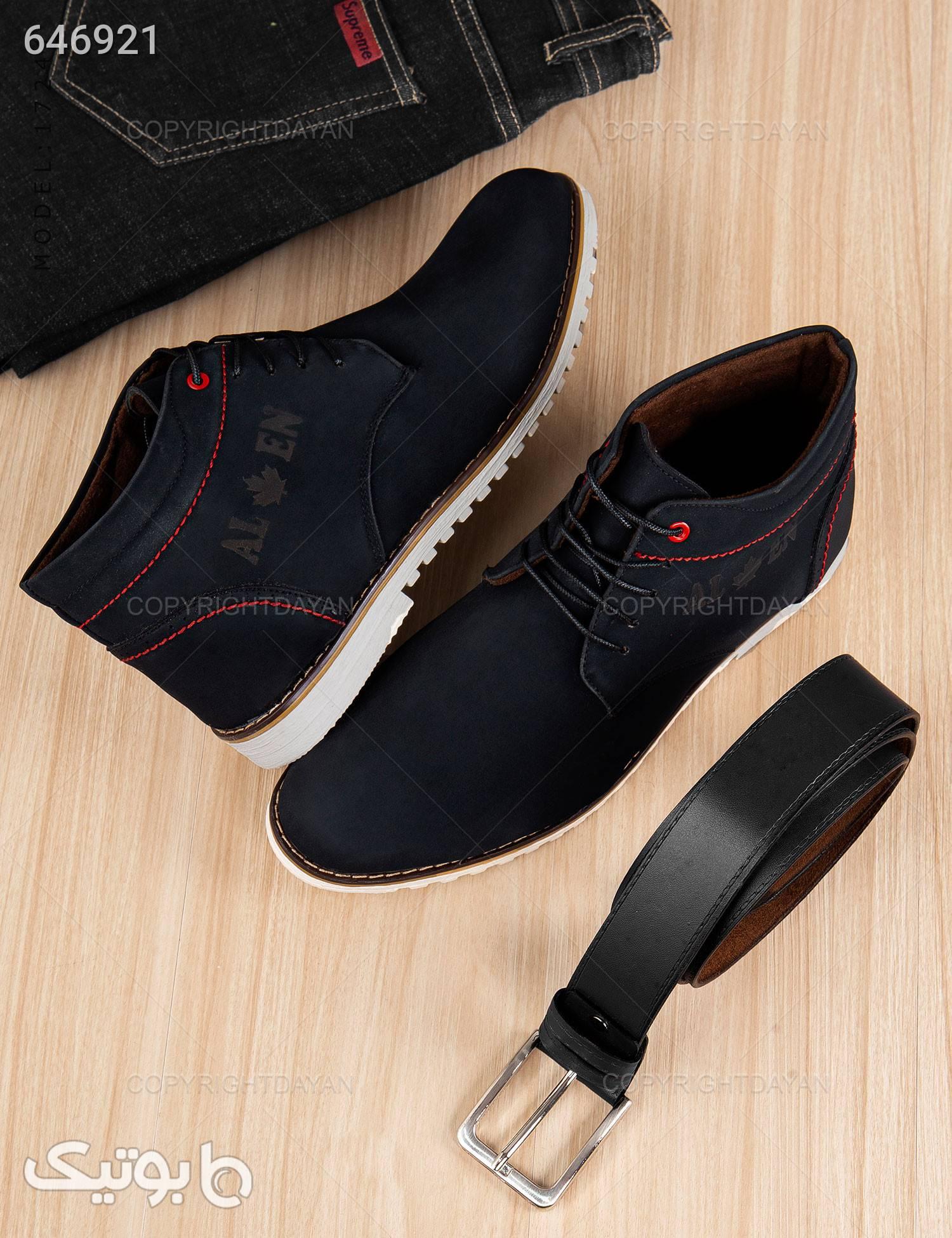 کفش ساقدار مردانه مدل K7241 مشکی كفش مردانه