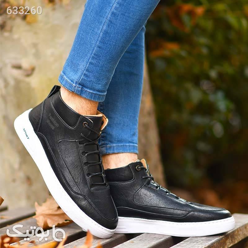 کفش ساقدار مردانه مشکی Nicolo مشکی كفش مردانه