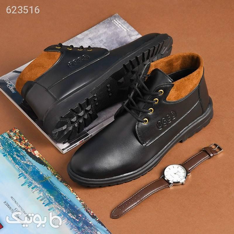 کفش ساقدار مردانه Brand مشکی كفش مردانه