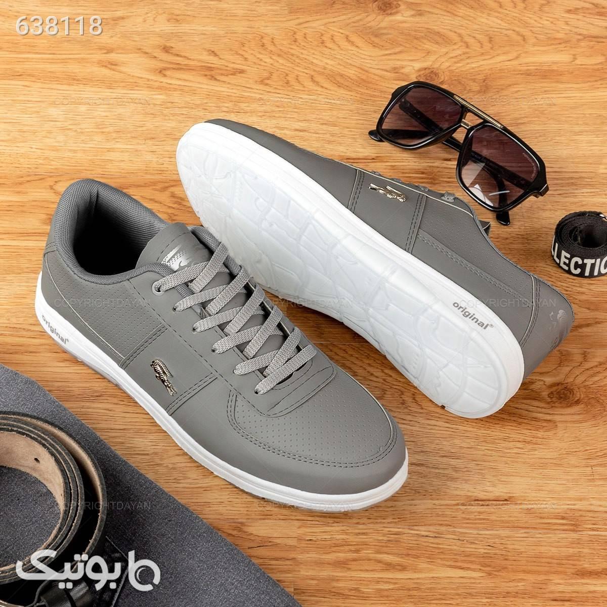 کفش مردانه لاگوست  نقره ای كفش مردانه