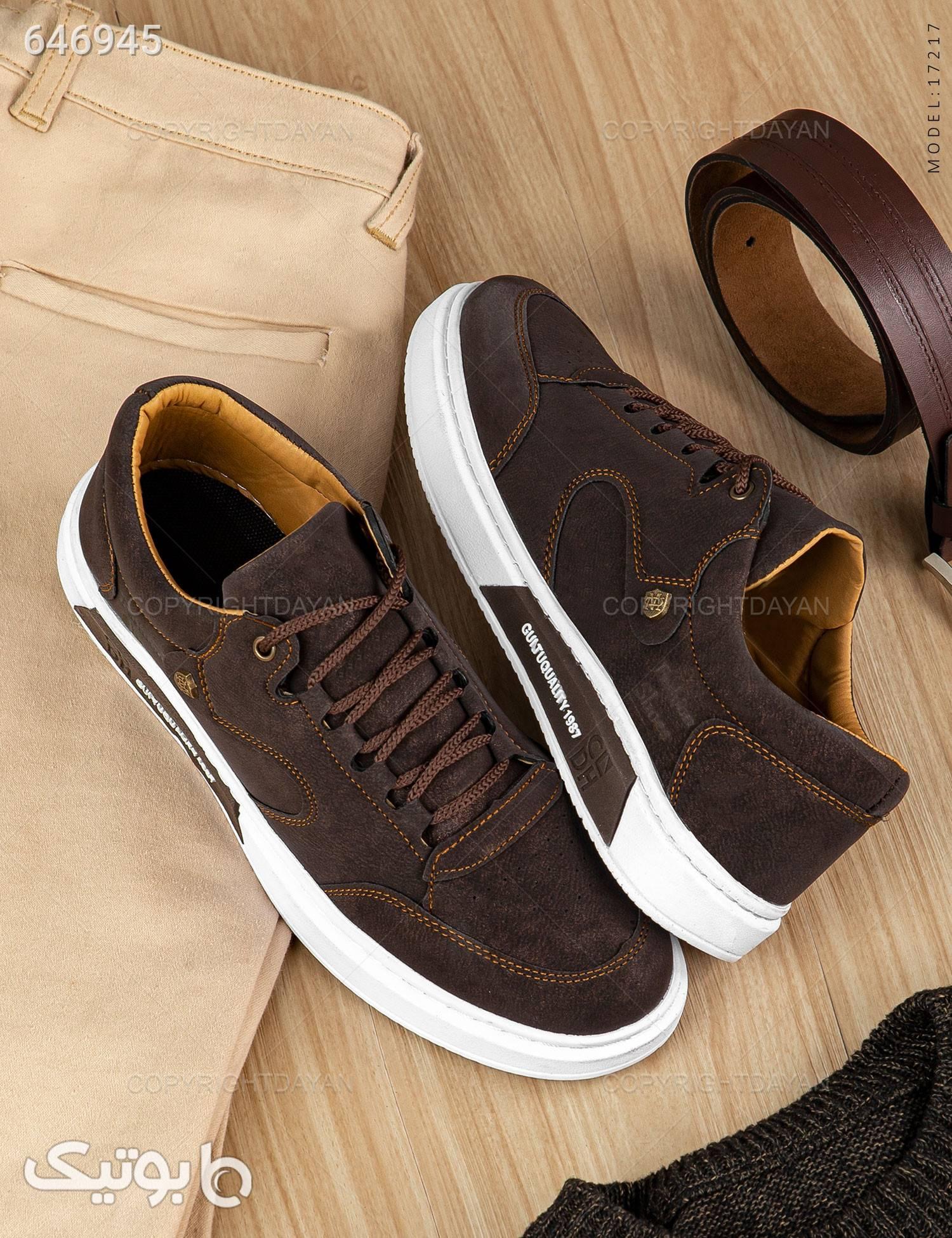 کفش مردانه مدل C7217 قهوه ای كفش مردانه