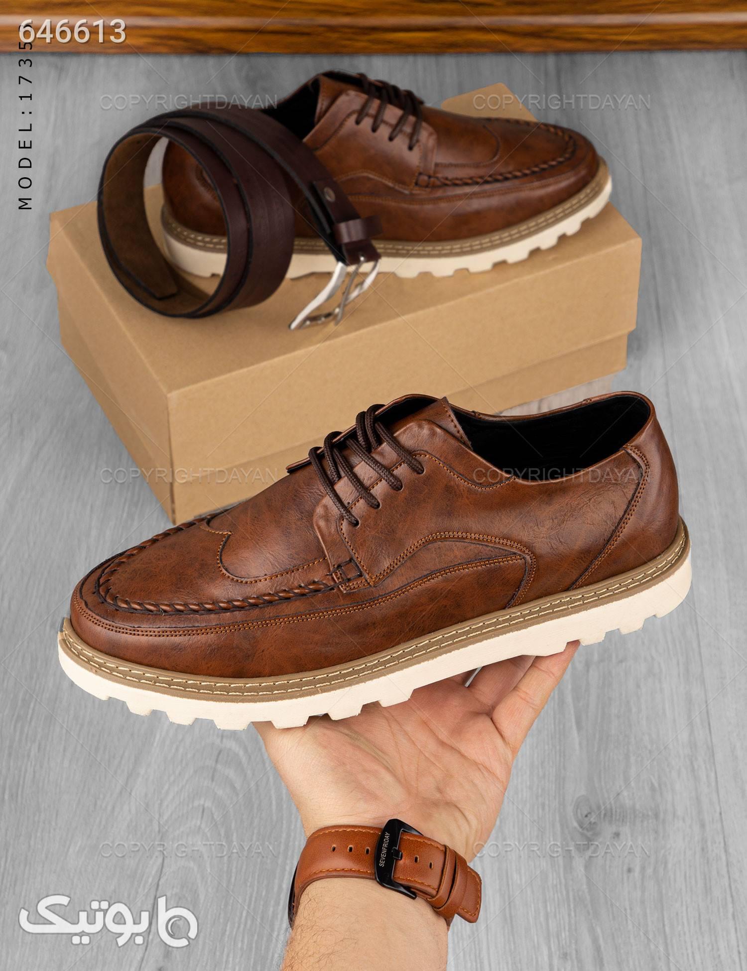 کفش مردانه مدل C7353 قهوه ای كفش مردانه