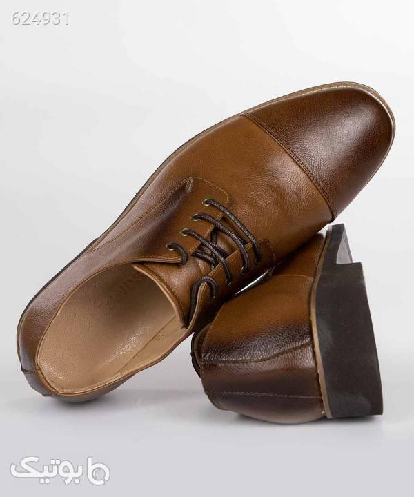 کفش چرم مردانه برندس Brands کد br100 قهوه ای كفش مردانه