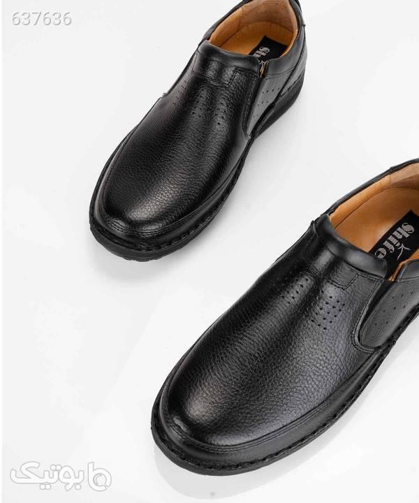 کفش چرم مردانه شیفر Shifer مدل SH7292A مشکی كفش مردانه
