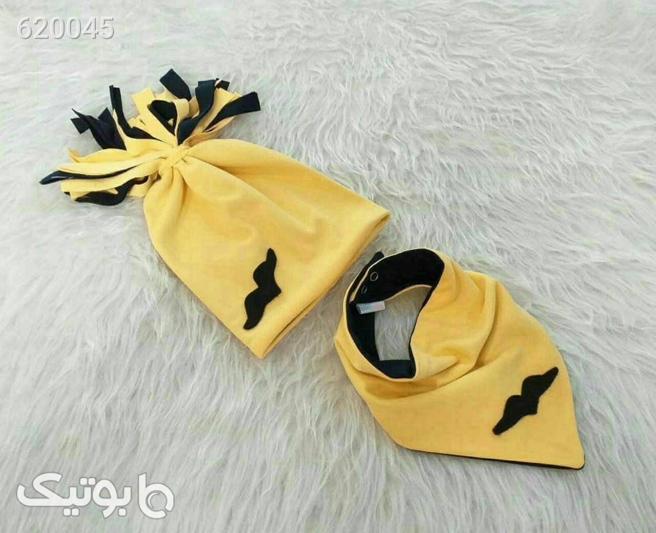کلاه ودستمال گردن زرد کلاه و اسکارف