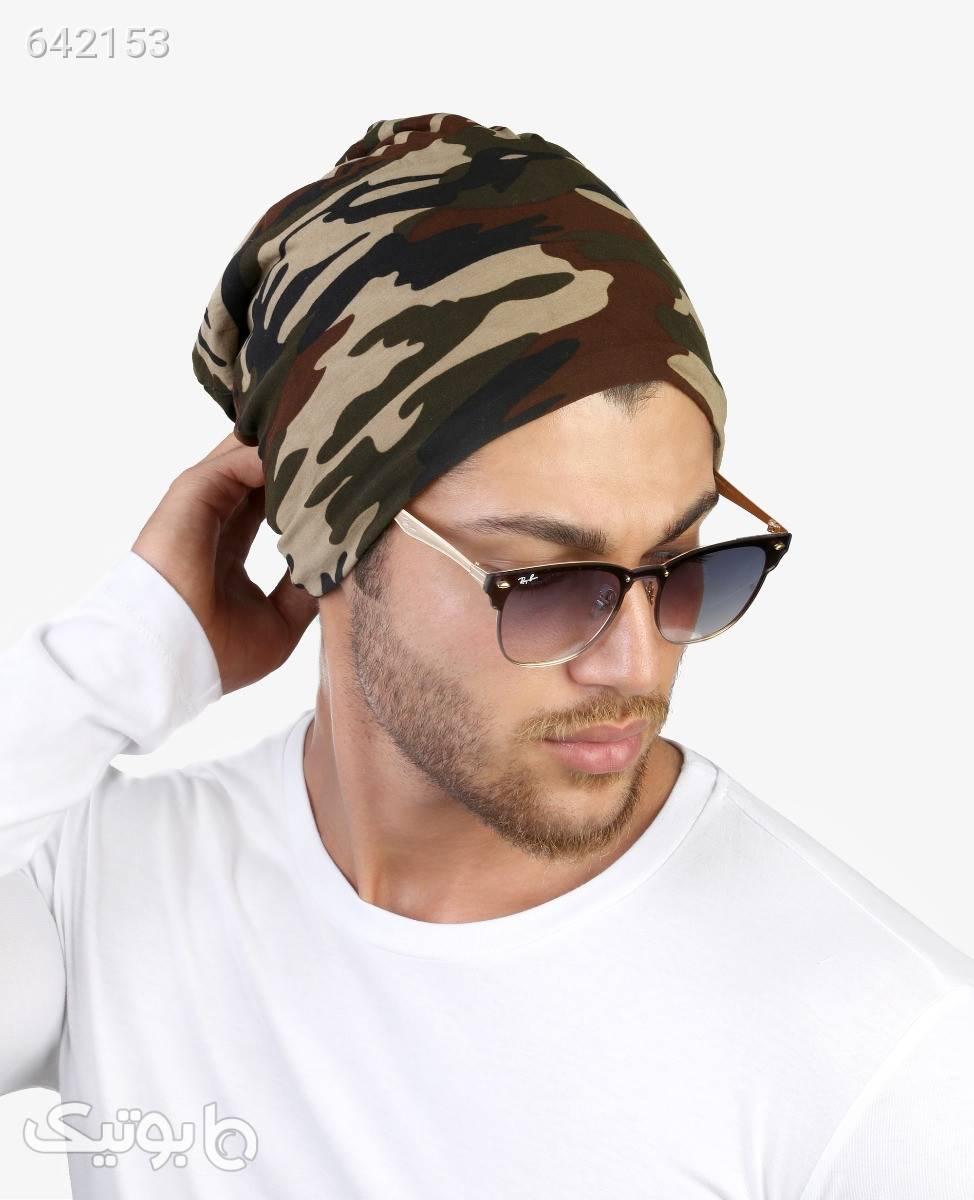 کلاه چیریکی کرک دار مردانه مدل 9169چریکی قهوه ای کلاه و اسکارف