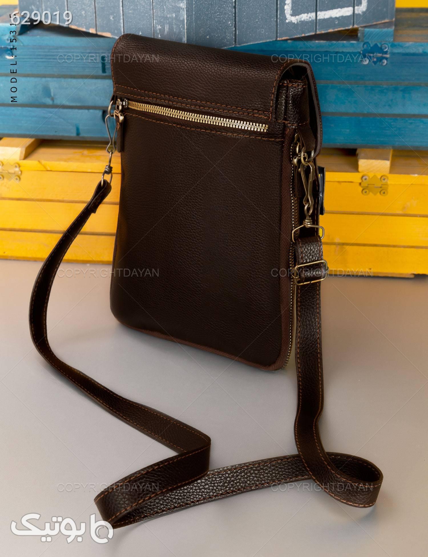 کیف دوشی اسپرت مدل Polo قهوه ای کیف اداری