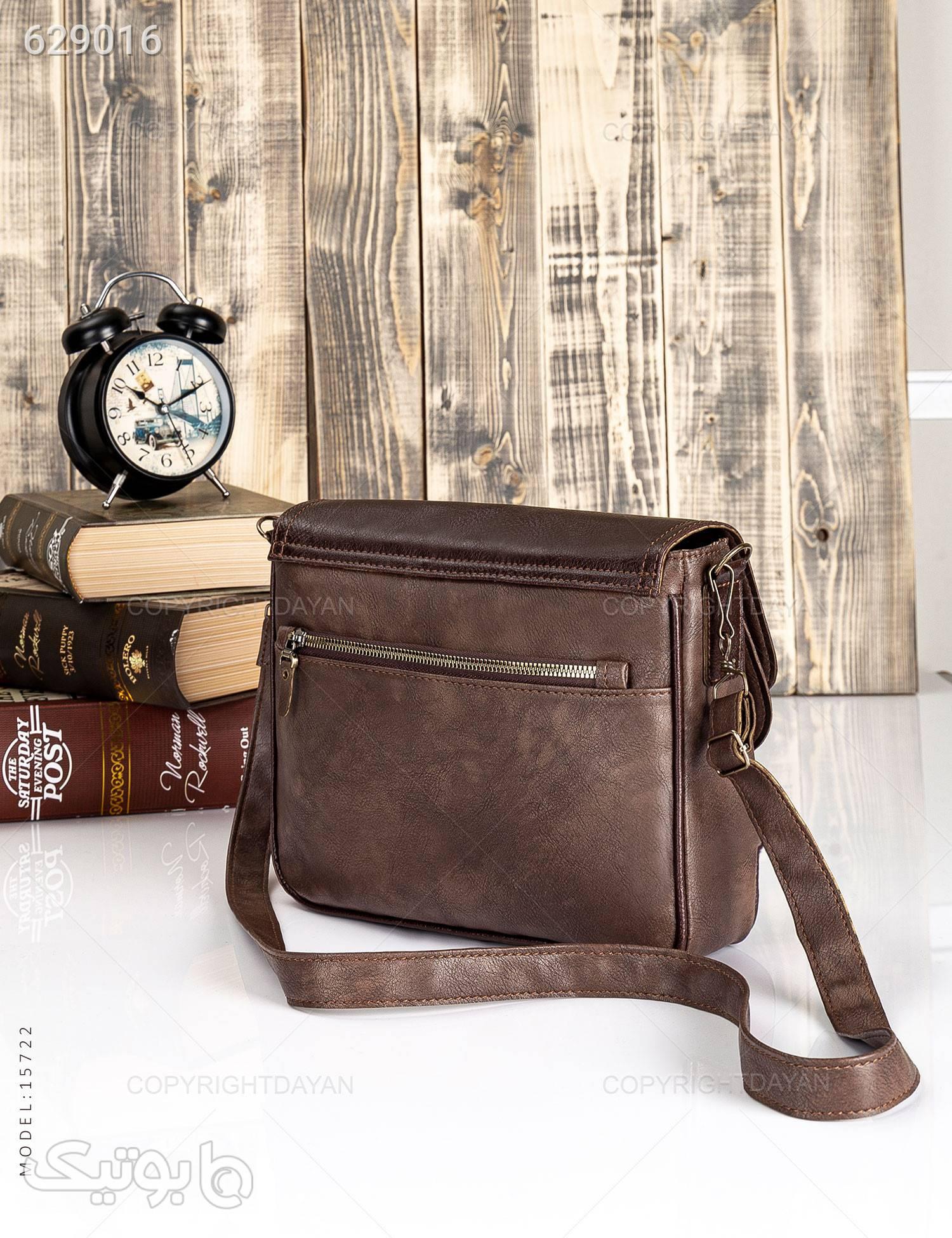 کیف چرمی رودوشی قهوه ای کیف اداری