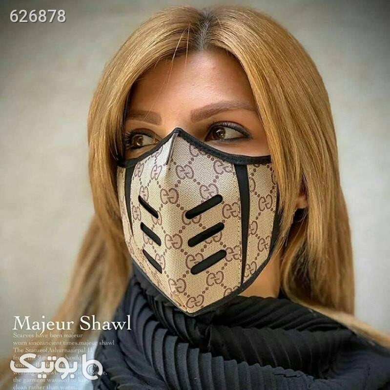 ماسک مارک طرح گوچی 2لایه طلایی بهداشت و مراقبت دهان و دندان