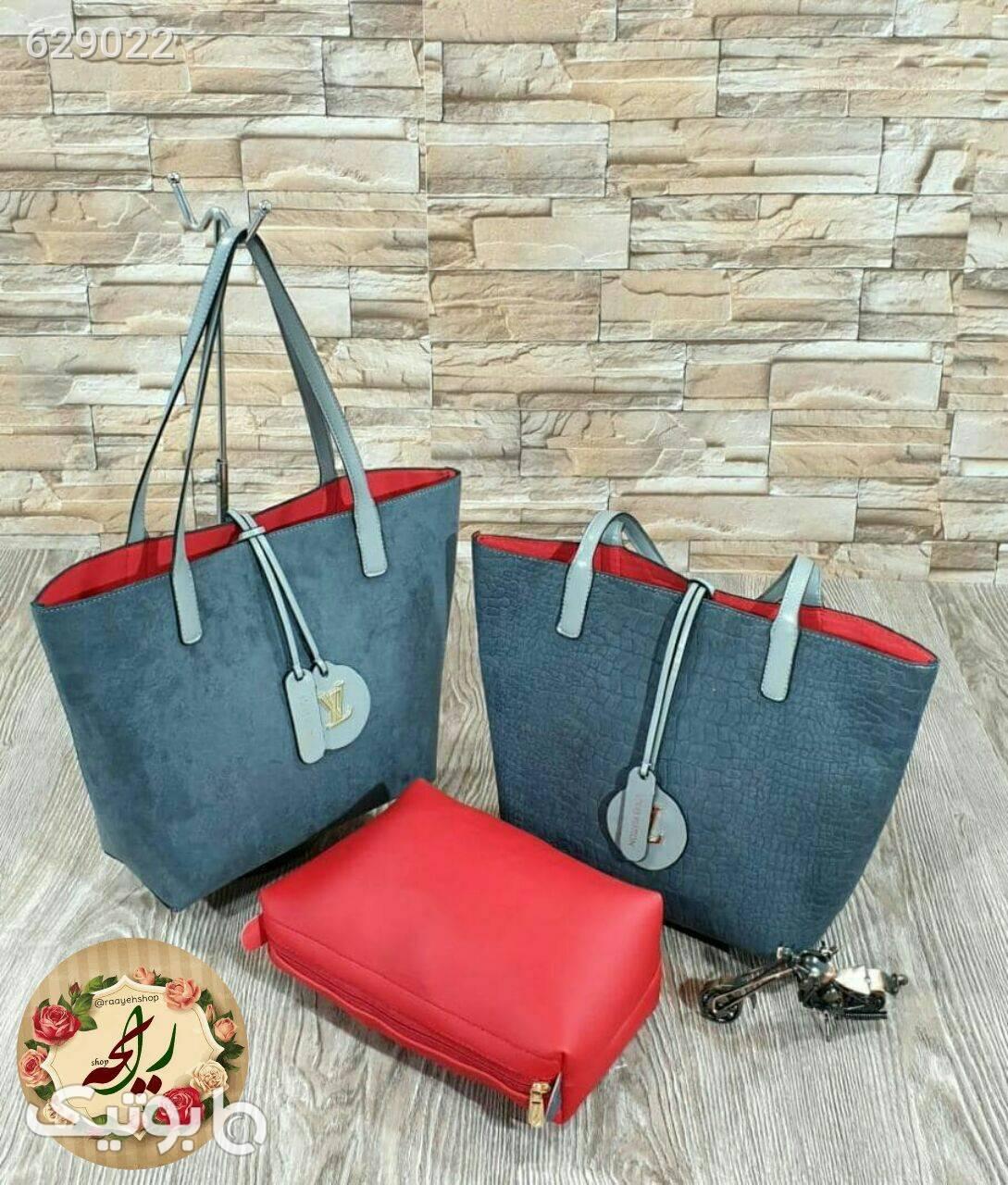 کیف زنانه بزرگ آبی كيف زنانه