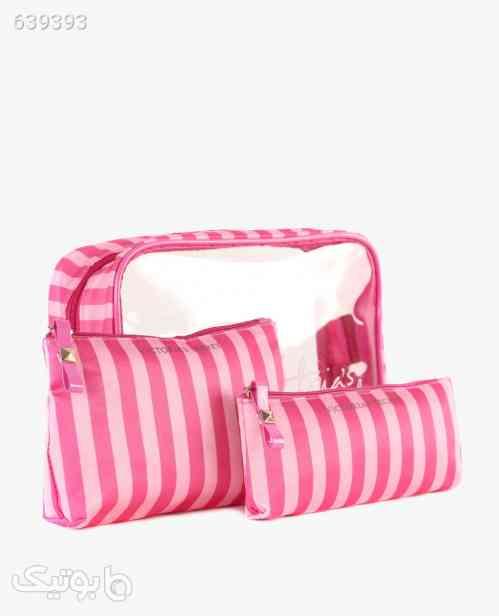 کیف آرایشی بسته سه تایی Victoria's Secret مدل 9804 صورتی 99 2020