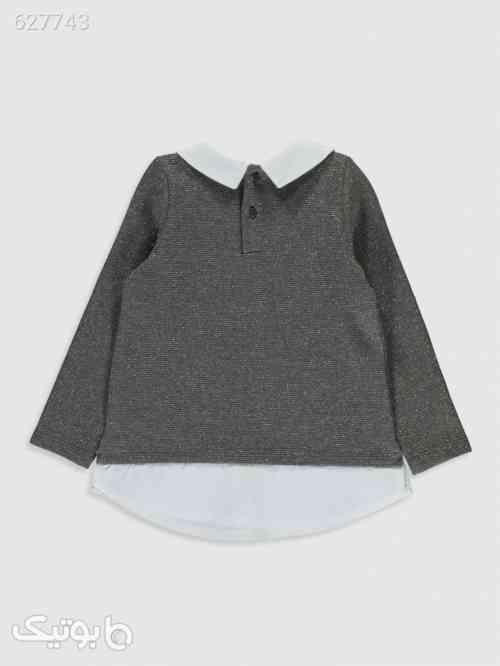 تی شرت کودک دخترانه ال سی وایکیکی نقره ای 99 2020