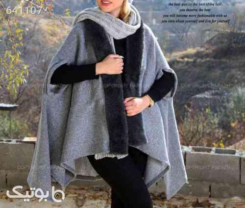 شنل بافت زنانه STEVEN مدل 9209 طوسی 99 2020