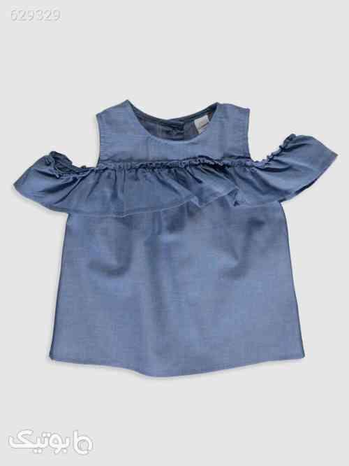 شومیز نوزادی دخترانه برند ال سی سورمه ای 99 2020
