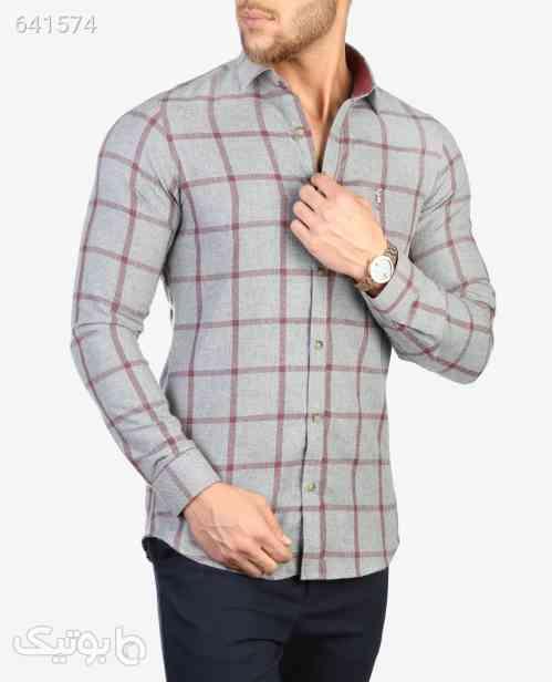 پیراهن چهارخانه مردانه Polo مدل 6024خاکستریS 99 2020