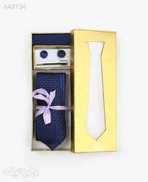ست کراوات طرح دار مردانه مدل 5861سرمه ای سورمه ای 99 2020