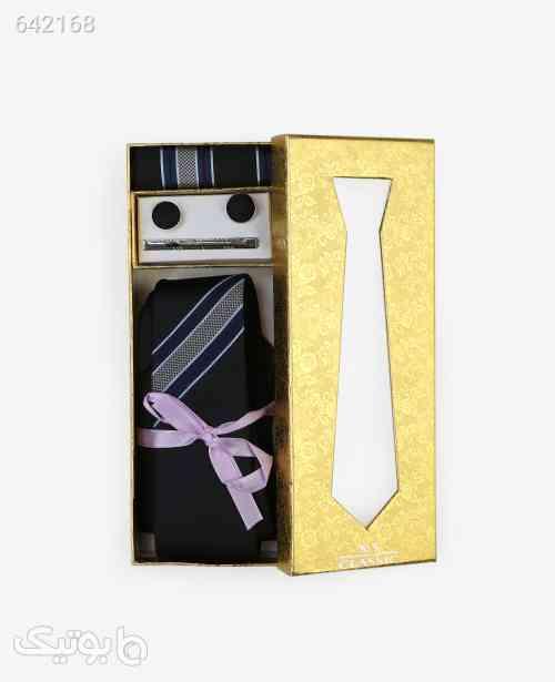 ست کراوات طرح دار مردانه مدل 7094مشکی مشکی 99 2020