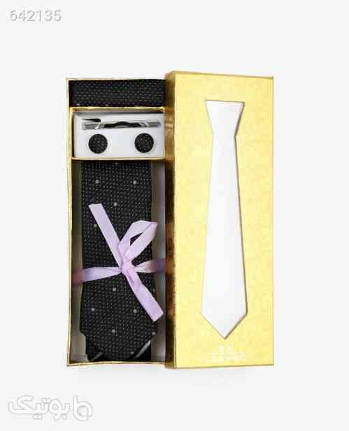 ست کراوات طرح دار مردانه مدل 7553مشکی مشکی 99 2020