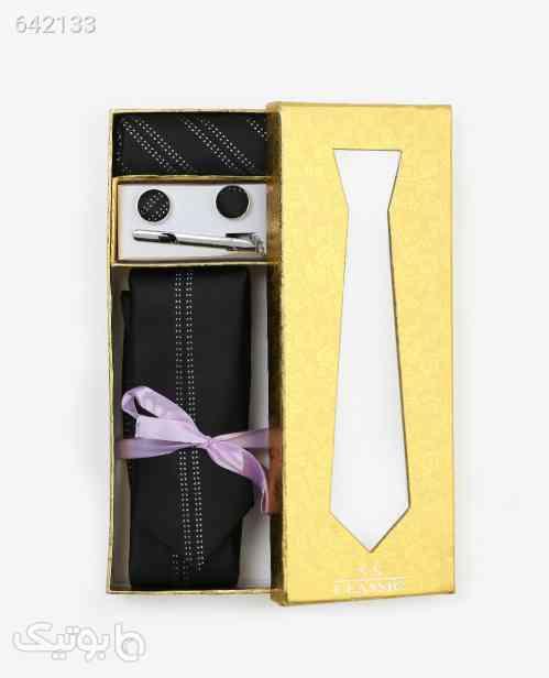 ست کراوات طرح دار مردانه مدل 9572مشکی مشکی 99 2020