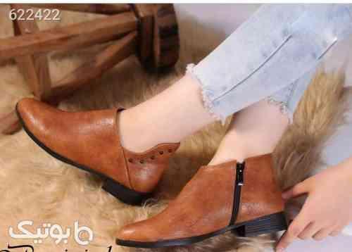 کفش زنانه چرم عسلی نارنجی 99 2020