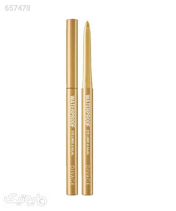 مداد چشم ضد آب دیواژ Divage مدل Waterproof eye liner & Kajal طلایی آرایش چشم