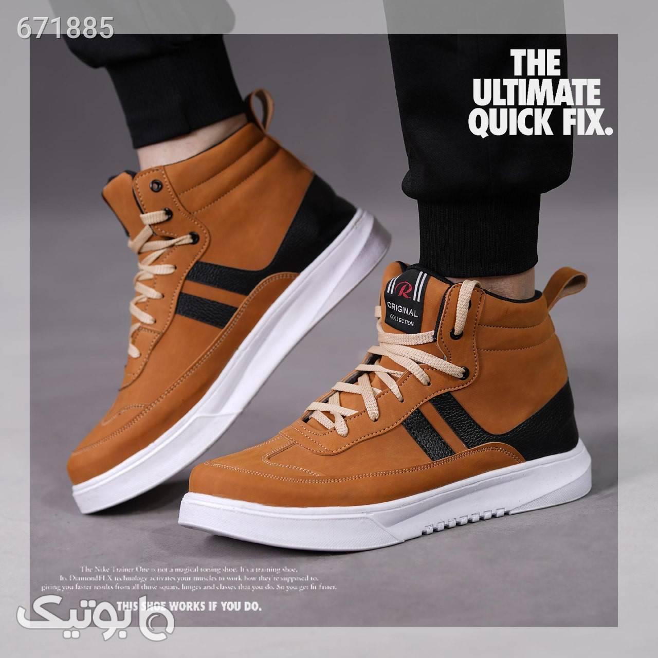 کفش ساقدار  Sheniz (عسلی) قهوه ای بوت مردانه