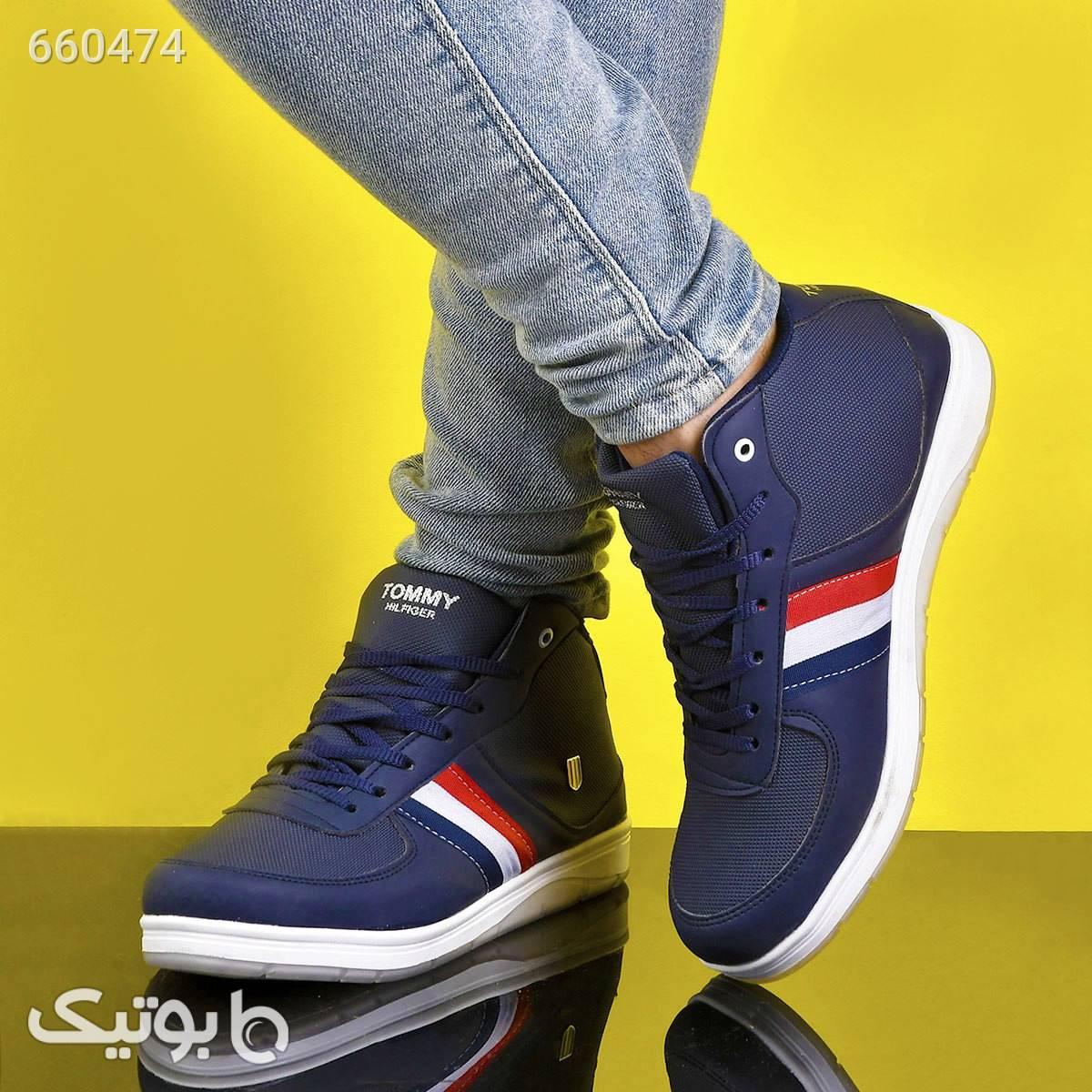 کفش ساقدار Tommy  سورمه ای بوت مردانه