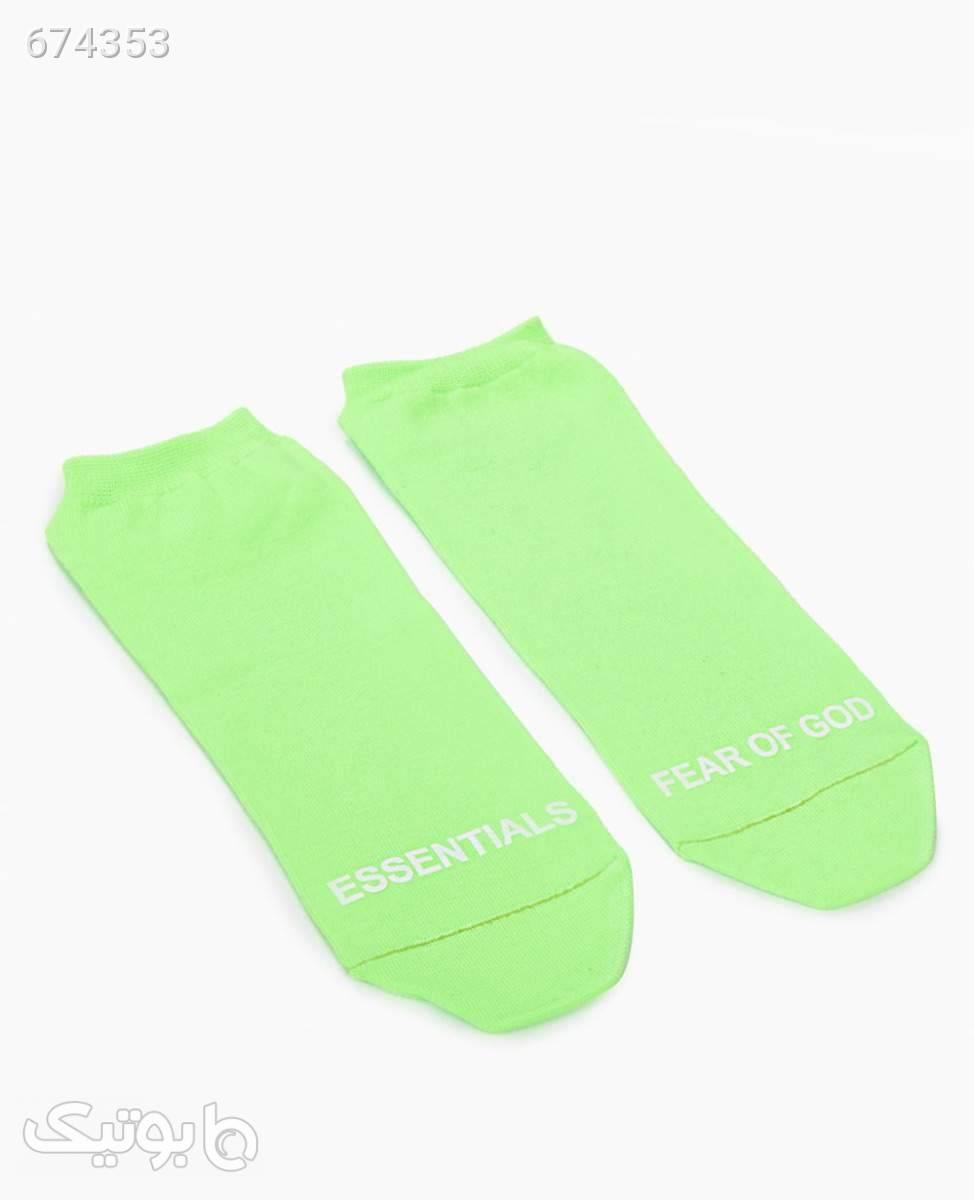 جوراب ساق کوتاه Essentials کد 7451BlackLight Green سبز جوراب و پاپوش