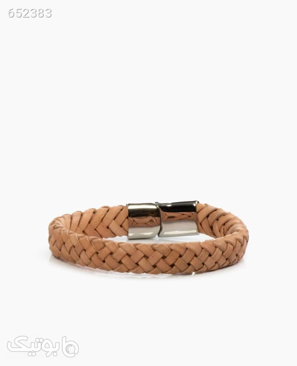 دستبند چرم کد 5205LightCream طلایی دستبند و پابند
