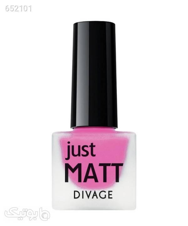 لاک ناخن مات دیواژ Divage مدل Just Matt حجم 6 میلیلیتر صورتی زیبایی ناخن ها
