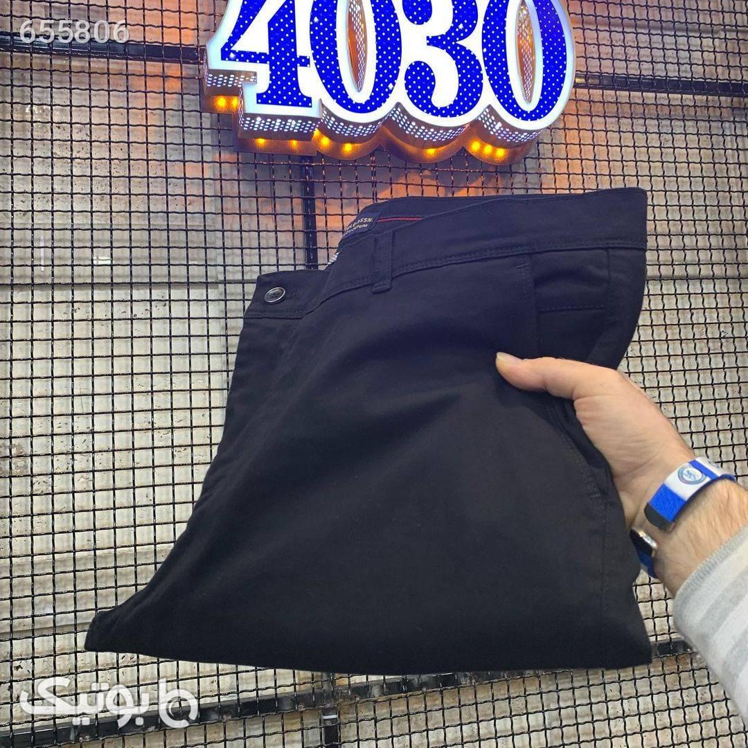 شلوار کتان سایزبزرگ کد 314 سورمه ای سایز بزرگ مردانه