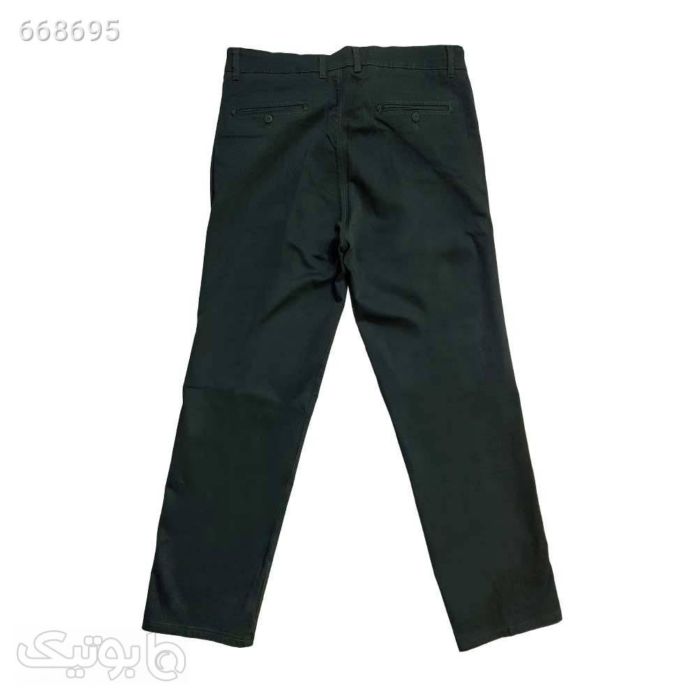 شلوار کتان کلاسیک سایز بزرگ 11324517 سبز سایز بزرگ مردانه