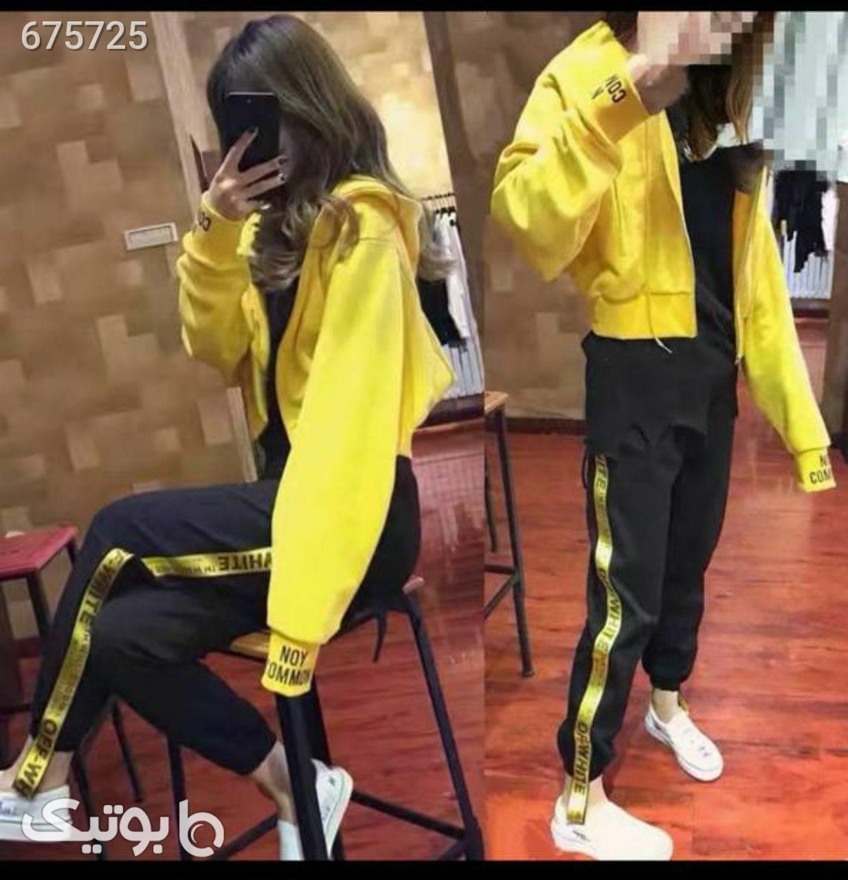 ست دوتیکه  زرد ست ورزشی زنانه