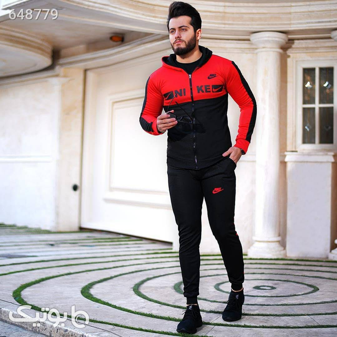 ست سویشرت و شلوار مردانه کد 0484827  قرمز ست ورزشی مردانه