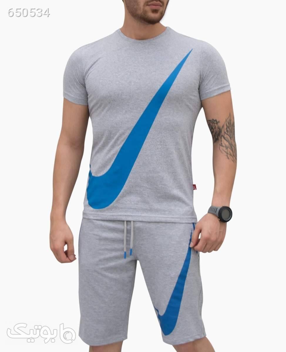 ست ورزشی مردانه Nike کد 0056LightGreyS طوسی ست ورزشی مردانه