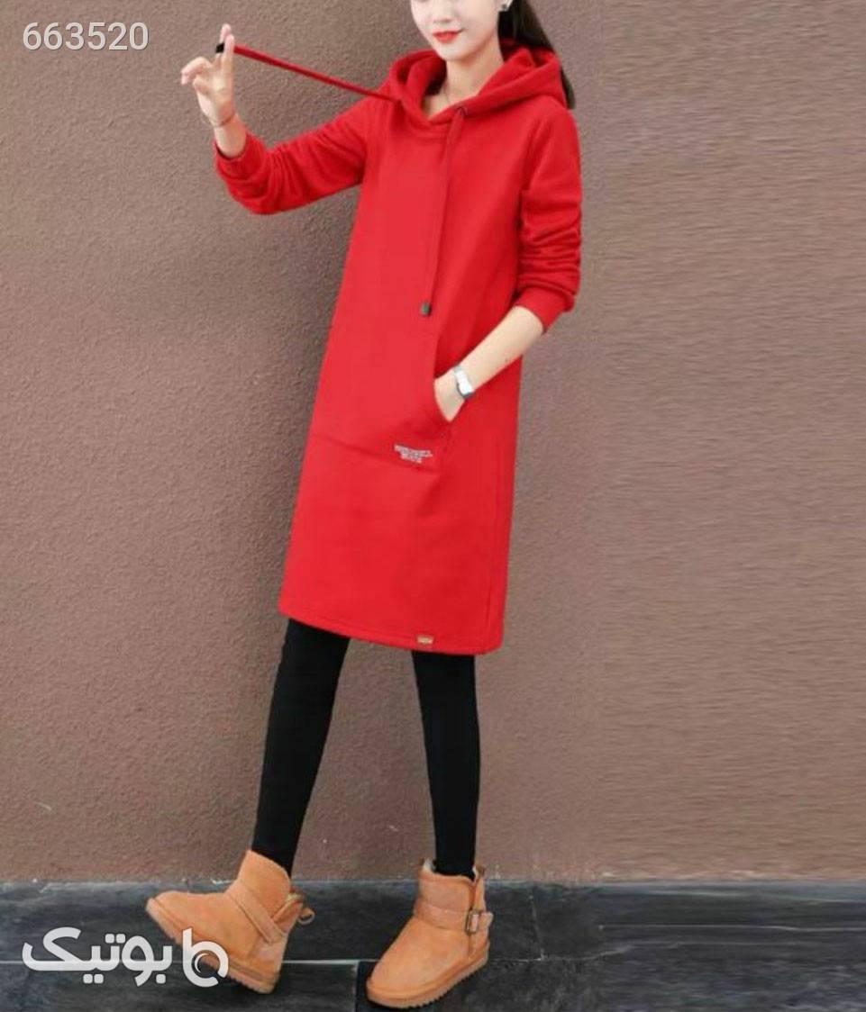 هودی بلند  قرمز سوئیشرت زنانه
