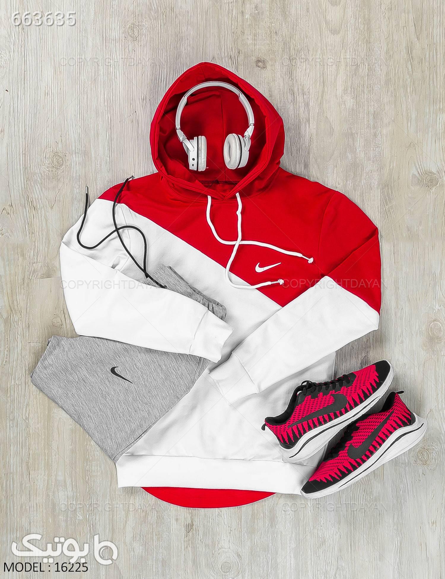 ست سویشرت و شلوار مردانه Nike مدل 16225 قرمز سوئیشرت و هودی مردانه
