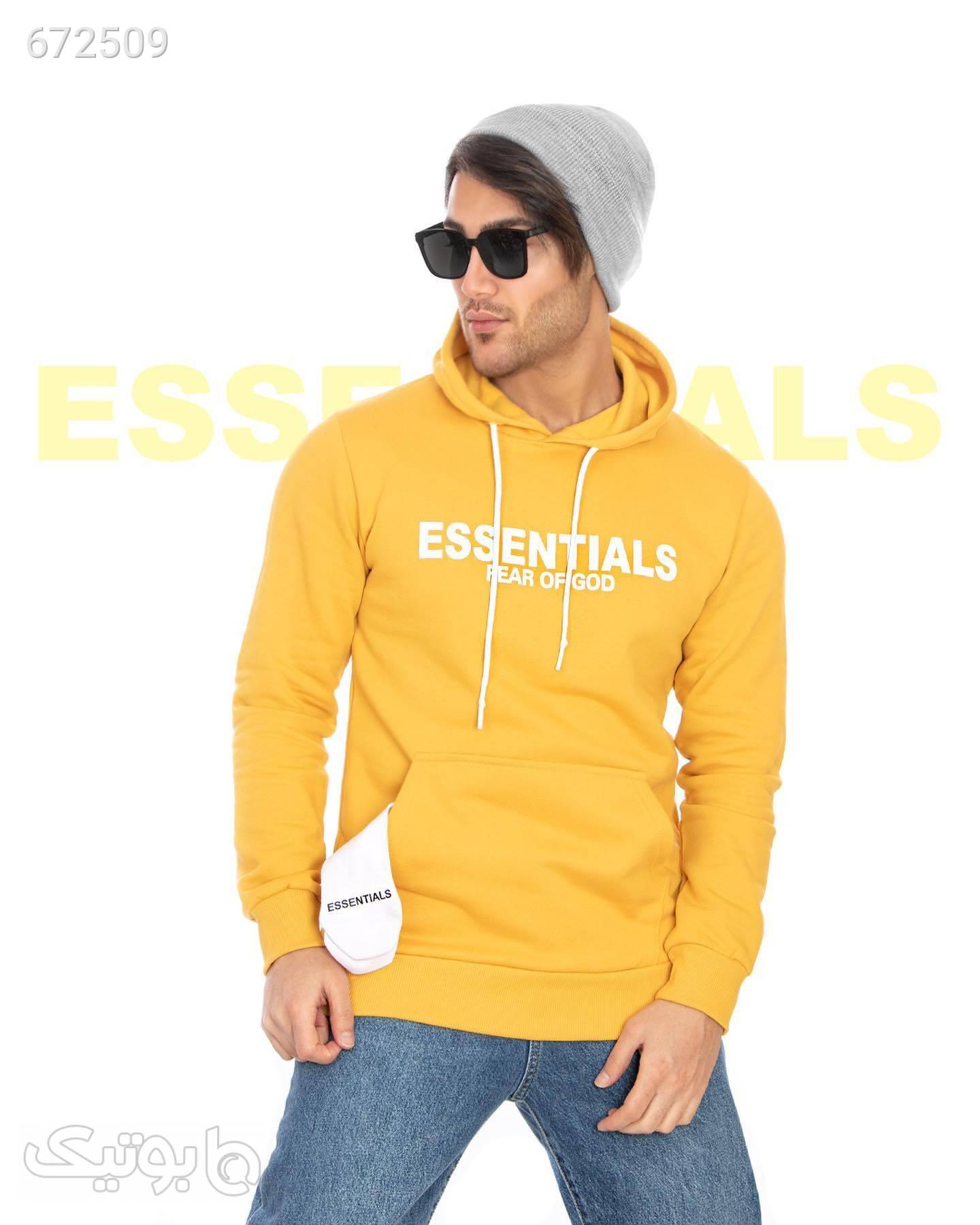 هودی مردانه Essentials زرد سوئیشرت و هودی مردانه