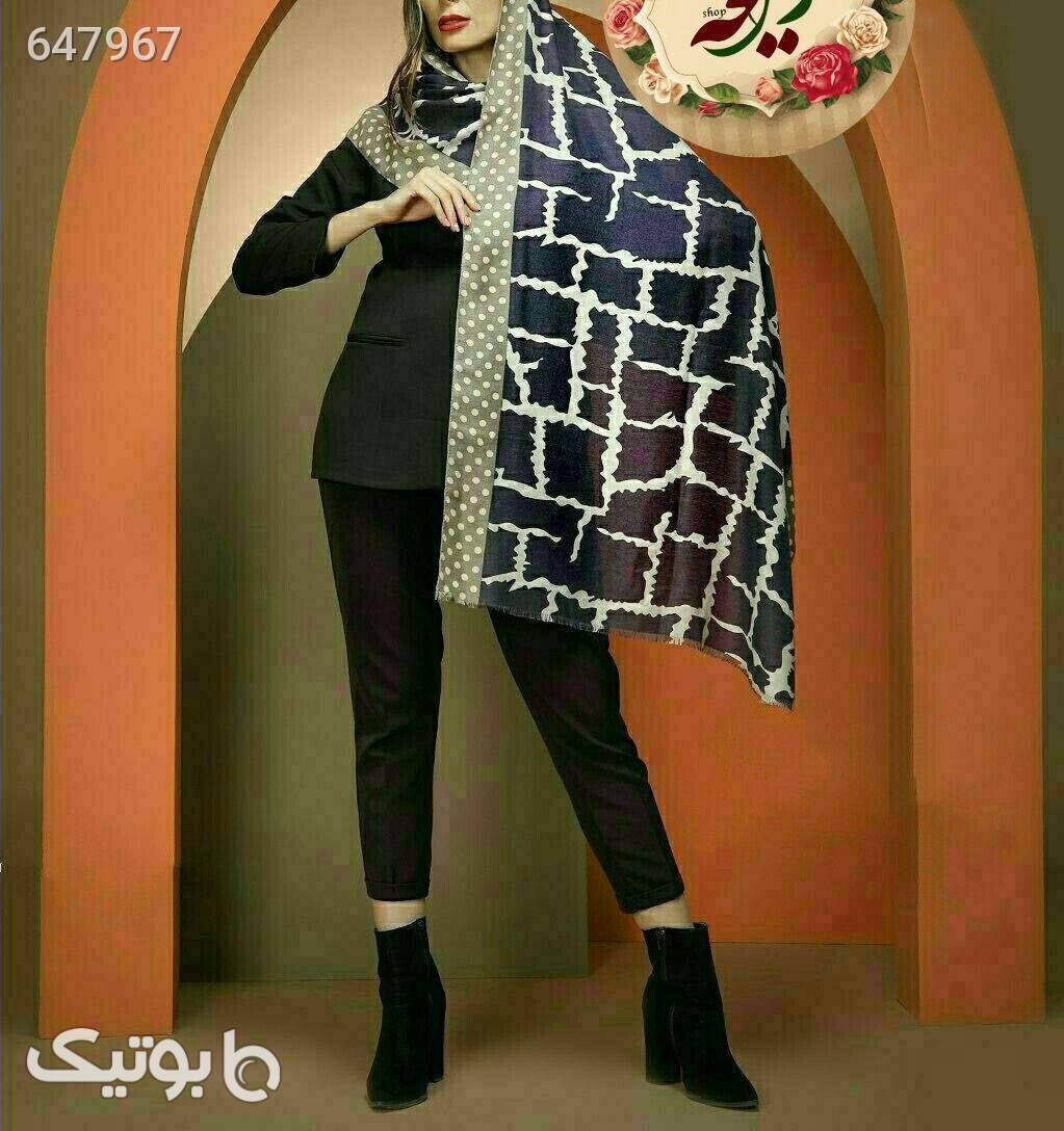 شال نخی پاییزی قهوه ای شال و روسری