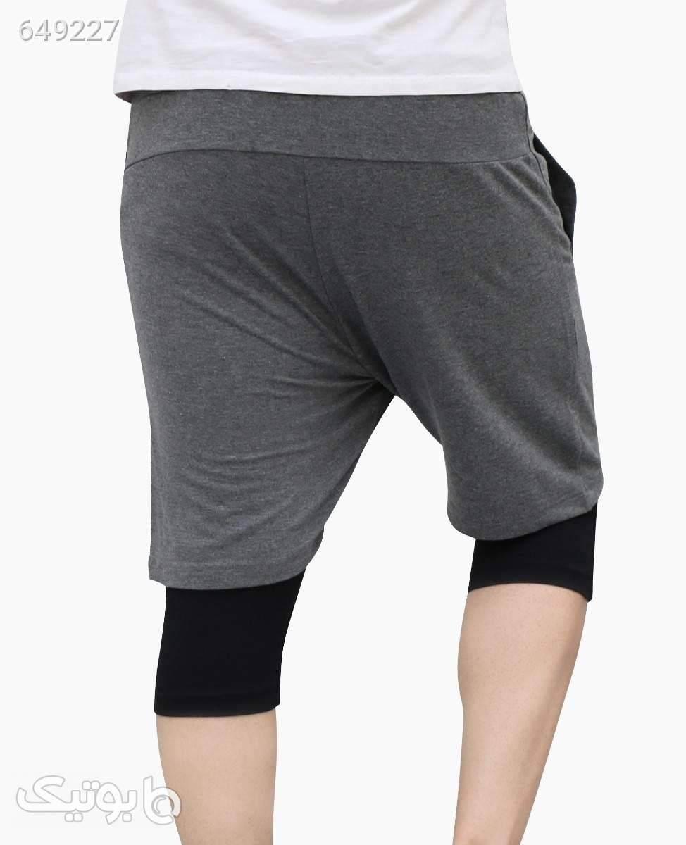 شلوارک لگ دار نخی مردانه 2Y Premium کد 7064LightGreyS شلوارک مردانه