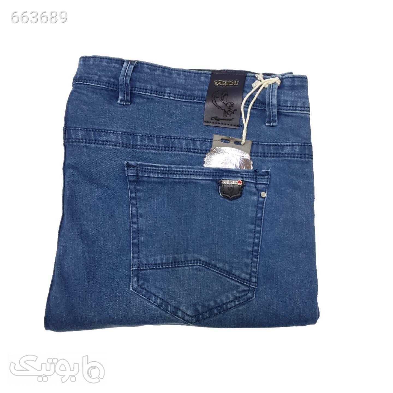 شلوار جین آبی سایز بزرگ مردانه