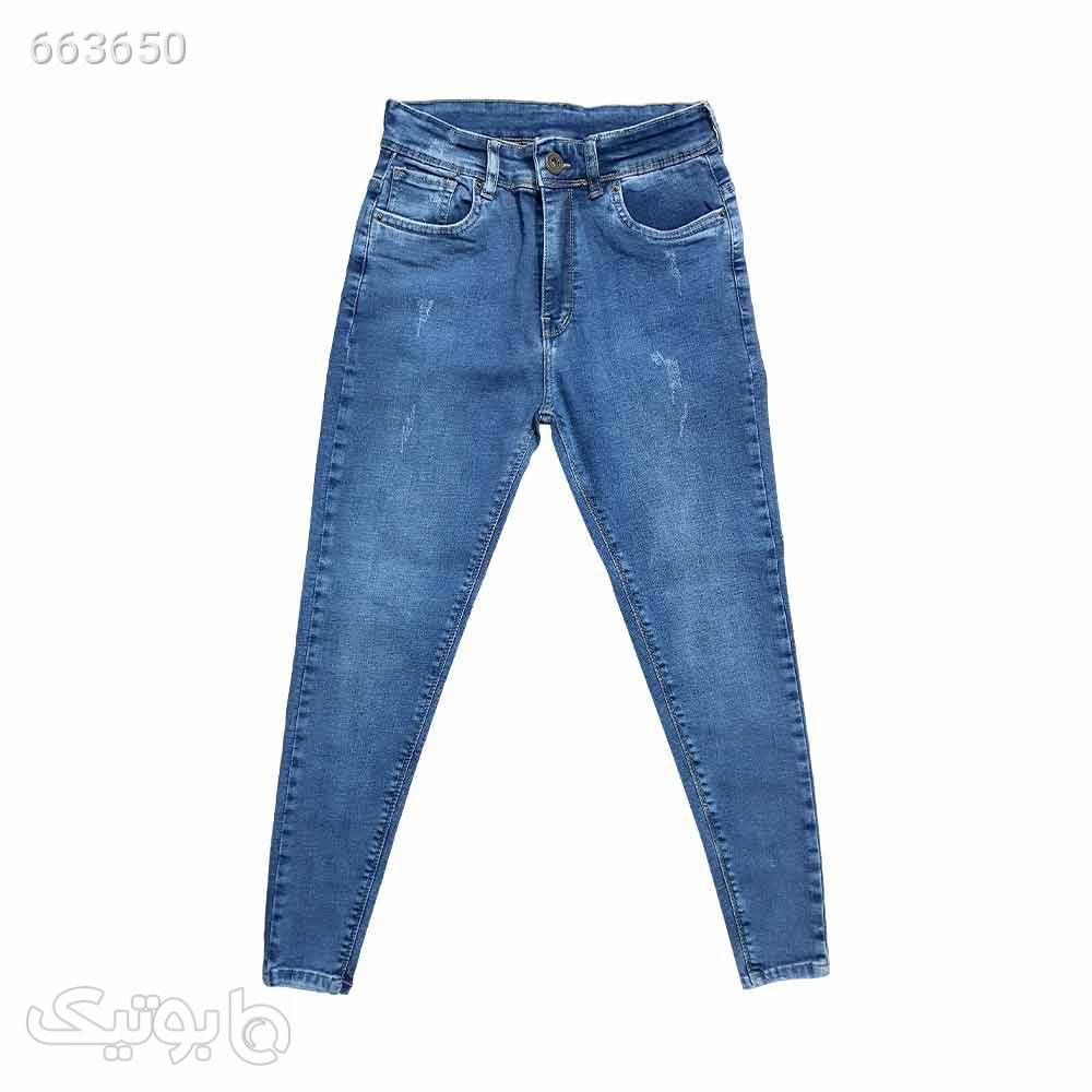 شلوار لی کشی زنانه قد 90 آبی 1141685 آبی شلوار جین زنانه