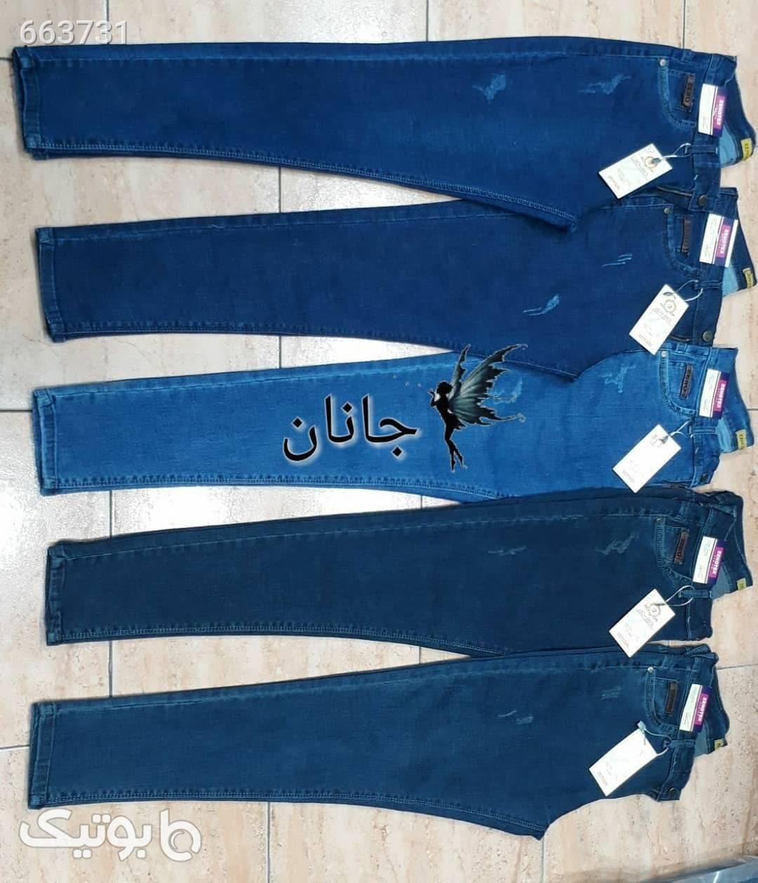 شلوار  آبی شلوار جین زنانه