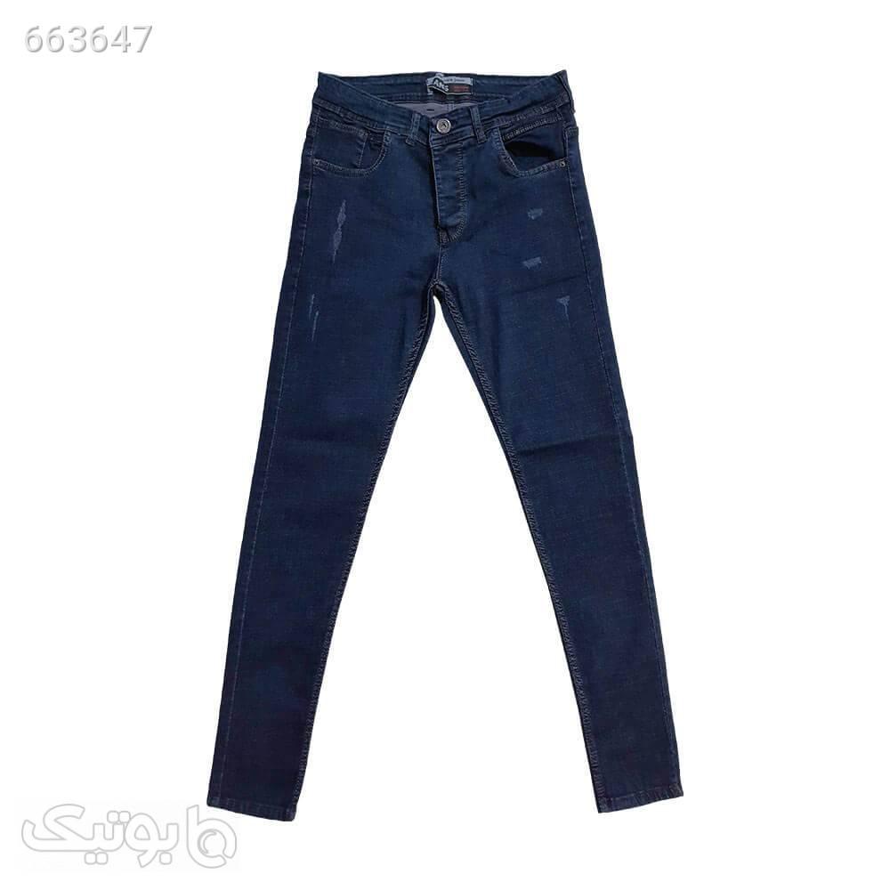 شلوار لی تمام کش سورمه ای 1112252 سورمه ای شلوار جین مردانه