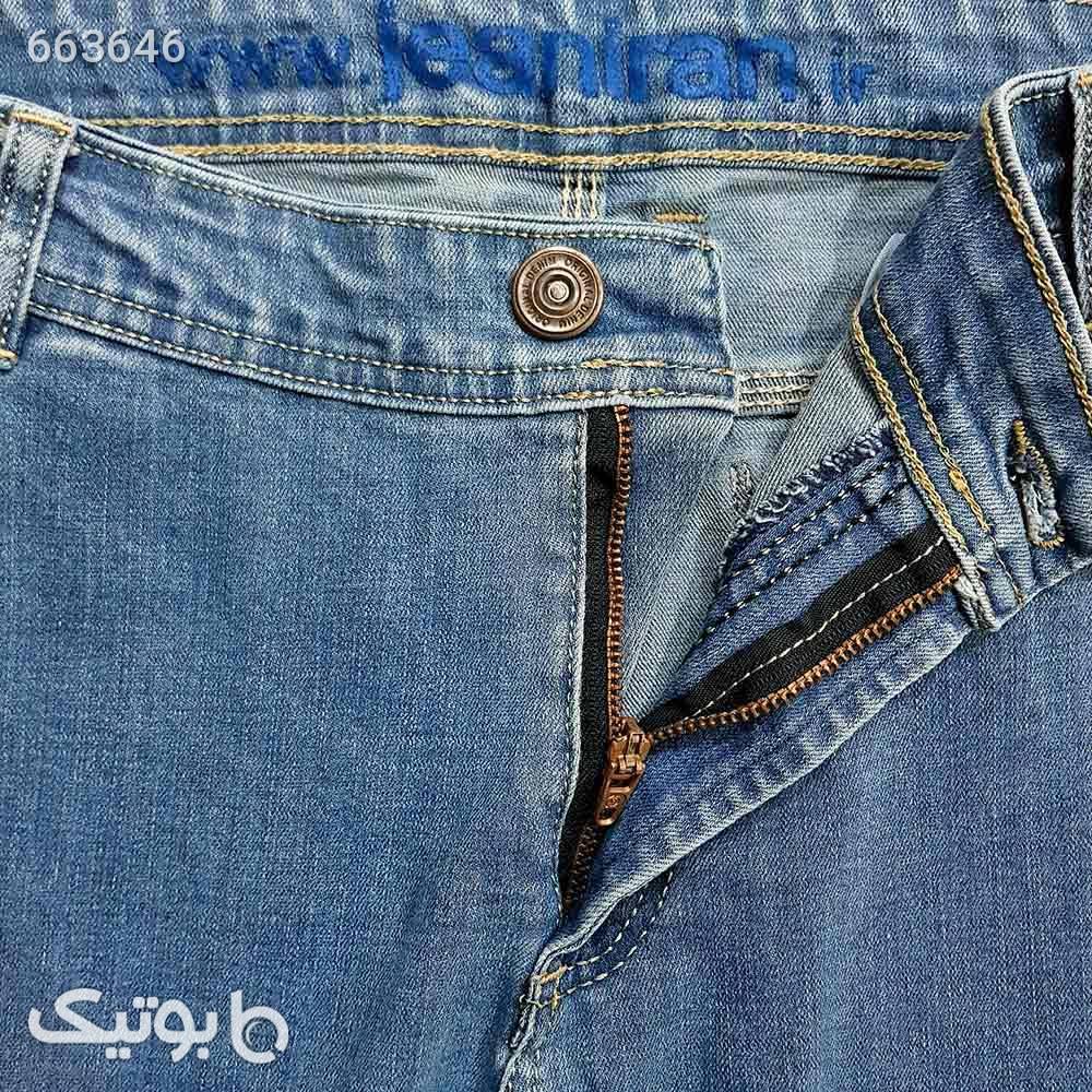 شلوار لی کشی جیب کراس آبی روشن 1112654 آبی شلوار جین مردانه