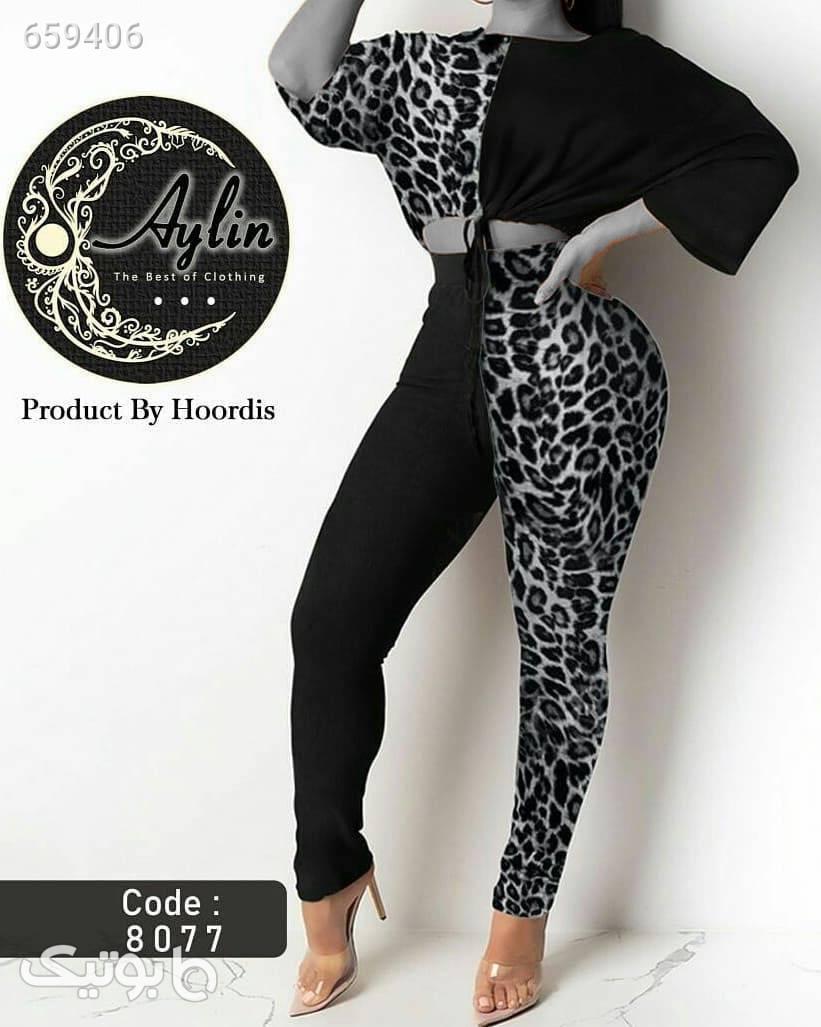 ست بلوز و شلوار  مشکی لباس راحتی زنانه