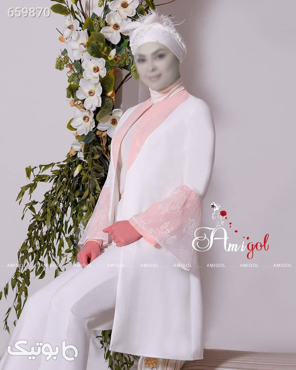 مانتو وشلوار صورتی لباس عروس