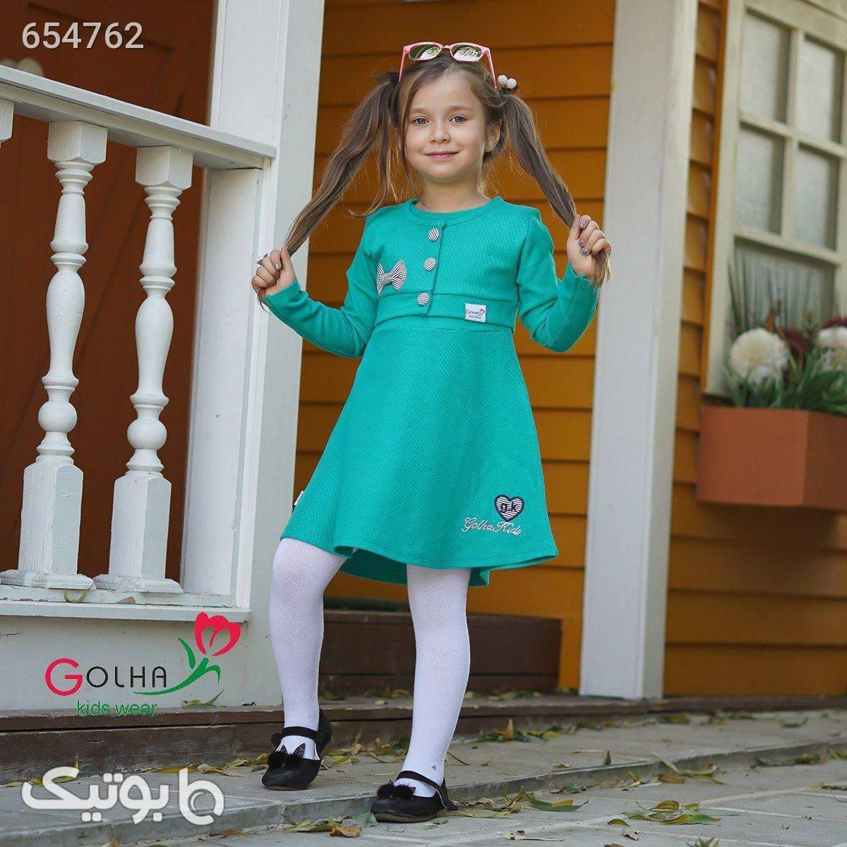 كت سارافون دخترونه سورمه ای لباس کودک دخترانه