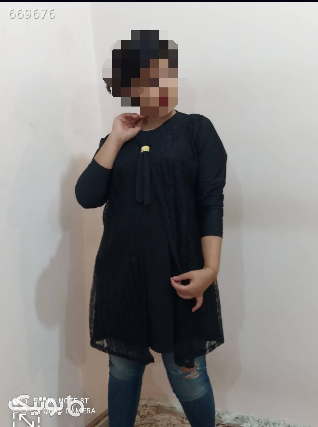 شومیزمجلسی قواره دارققق مشکی لباس  مجلسی